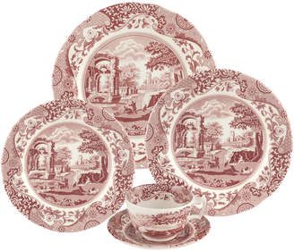Spode Cranberry Italian 5Pc Place Setting