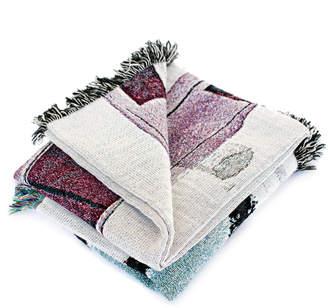 K Apostrophe Bowie Woven Throw Blanket