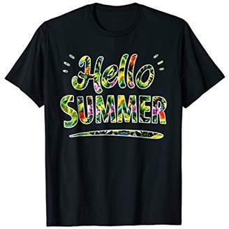 Hello Summer T-Shirt Tropical Holiday Vacation Welcome