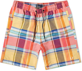 c0585475d8 Fred Perry Authentic Madras Check Swim Short