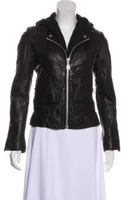 Damir Doma Hooded Leather Jacket