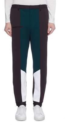 8ON8 Colourblock zip cuff pants