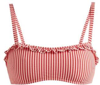 Solid & Striped The Leslie Striped Bandeau Bikini Top - Womens - Red Stripe