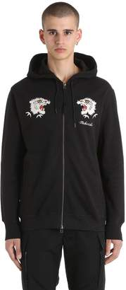 MHI Tiger Embroidered Zip Jersey Sweatshirt