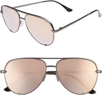 Quay x Desi Perkins High Key Mini 57mm Aviator Sunglasses