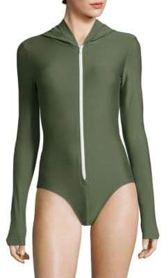 Cover One-Piece Hooded Swimsuit