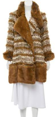 Chanel Tweed & Fantasy Fur Coat Brown Tweed & Fantasy Fur Coat