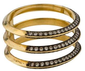 Ileana Makri Three Row Diamond Band