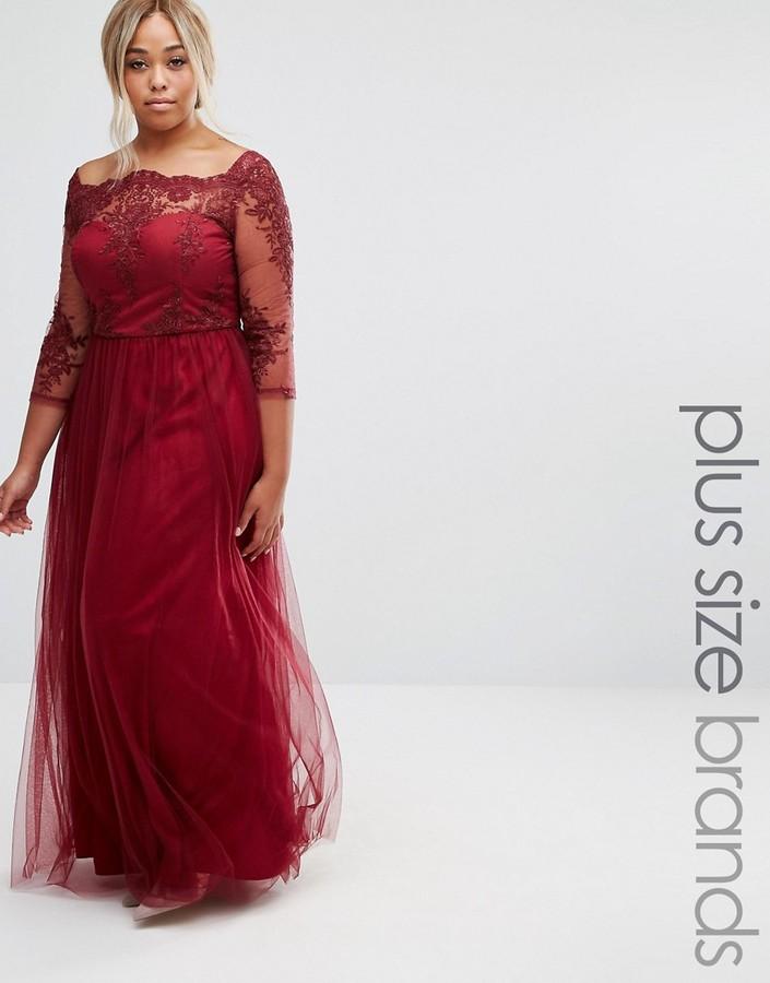 Plus red dress uk