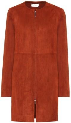 The Row Anka suede coat