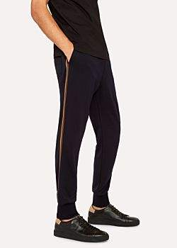 Paul Smith Men's Dark Navy 'Artist Stripe' Wool Sweatpants