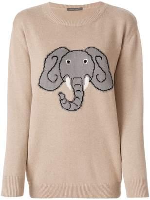 Alberta Ferretti elephant print jumper