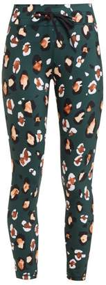 The Upside Jewel Leopard Print Leggings - Womens - Green Print