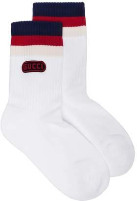 Gucci colour block logo socks