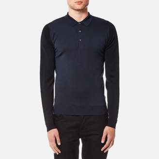 John Smedley Men's Brightgate 30 Gauge Merino Long Sleeve Polo Shirt