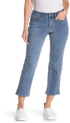 NYDJ CURVES 360 BY Snap Detail Straight Leg Ankle Jeans (Reverie) (Regular & Plus Size)