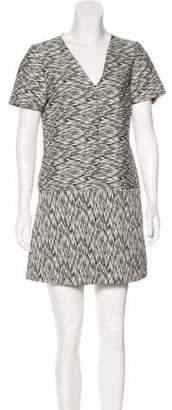Whit Short Sleeve Mini Dress