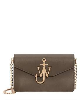 J.W.Anderson Jw Logo Leather Purse With Chain