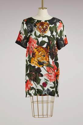 Paul & Joe Foulard flower tiger Dress
