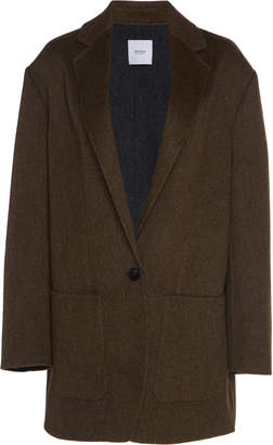 Agnona Oversized Wool And Cashmere-Blend Notched Lapel Blazer
