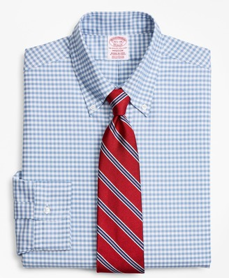 Brooks Brothers Original Polo Button-Down Oxford Madison Classic-Fit Dress Shirt, Gingham