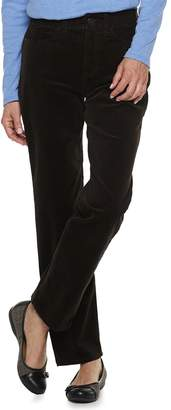 Croft & Barrow Women's Comfort Waist Straight-Leg Corduroy Pants