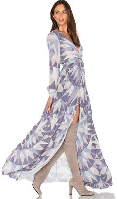 Mara Hoffman Compass Long Sleeve Maxi Dress $498 thestylecure.com