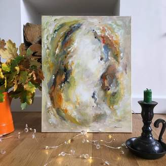 Paint-Me-Happy Art Earthy Modern Woodland Abstract Art Painting