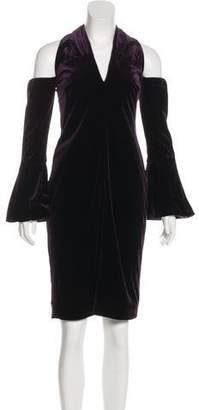 Tom Ford Velvet Cold-Shoulder Dress