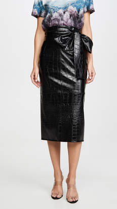 MSGM Waist Tie Midi Skirt