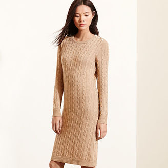 Ralph Lauren Cable-Knit Sweater Dress $198 thestylecure.com