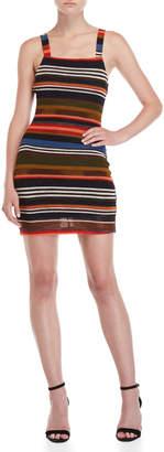 Wild Honey Striped Knit Mini Dress