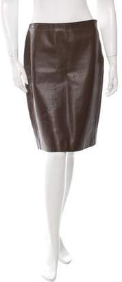 Calvin Klein Collection Soft Leather Skirt