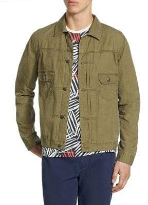 Madison Supply Tissue Weight Snap Jacket