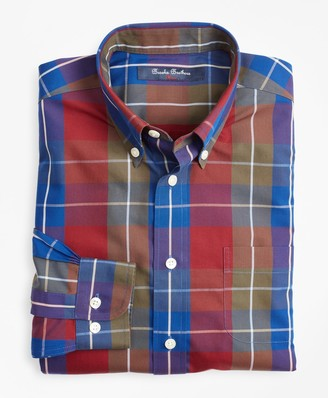 Brooks Brothers Boys Non-Iron Bold Check Sport Shirt