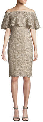 Tadashi Shoji Floral Lace Shift Dress