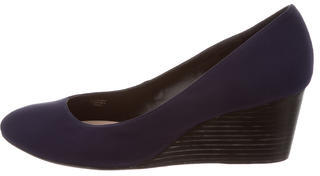 Taryn Rose Woven Round-Toe Wedges $75 thestylecure.com