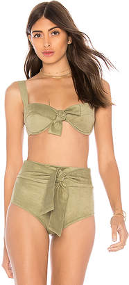 Montce Swim Bustier Bow Top