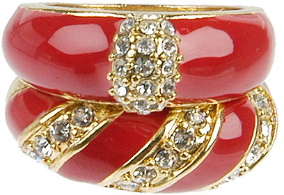 Jeweled Enamel Ring Set