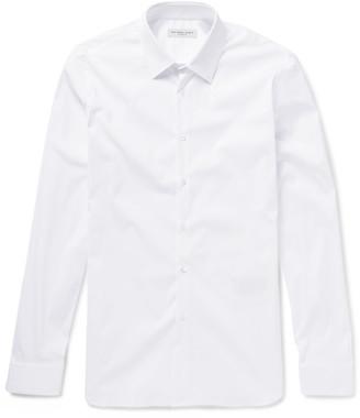 Burberry London Slim-Fit Stretch Cotton-Blend Poplin Shirt $350 thestylecure.com