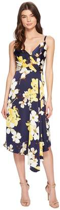 Maggy London Dogwood Blossom Draped Slip Dress Women's Dress
