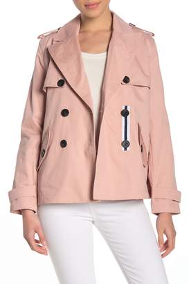 BCBGeneration Missy Short Double Breasted Trench