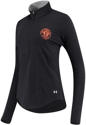 Under Armour Unbranded Women's Black San Francisco Giants Charged Cotton Half-Zip Pullover Jacket
