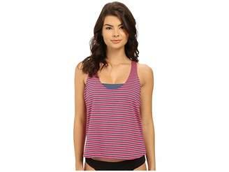 Splendid Malibu Stripe Double Dip Women's Swimwear