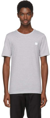 Acne Studios White and Black Nele Face T-Shirt