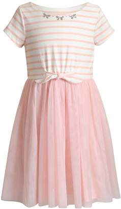 Youngland Girls 4-6x Striped Tulle Dress