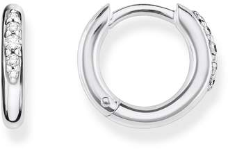 f8821e6d1 Thomas Sabo Jewellery Ladies Rose Gold Plated Sterling Silver Glam & Soul  Medium Hinged Hoop Earrings