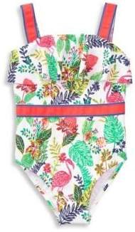 Janie and Jack Baby Girl's, Little Girl's & Girl's UPF50+ One-Piece Swimsuit