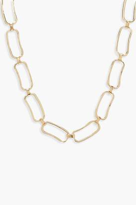 boohoo Chunky Linked Circle Necklace