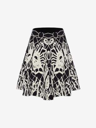 Alexander McQueen Spine Shell Jacquard Mini Skirt